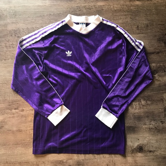 Vintage purple Adidas made in USA soccer jersey